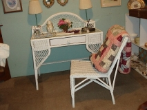Wicker Desk & Chair